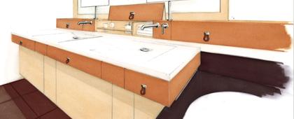 salle de bain invités